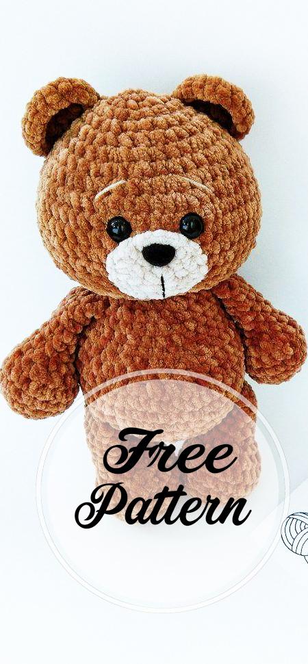 Amigurumi Bear in Nightdress Free Crochet Pattern - #Amigurumi ... | 970x450