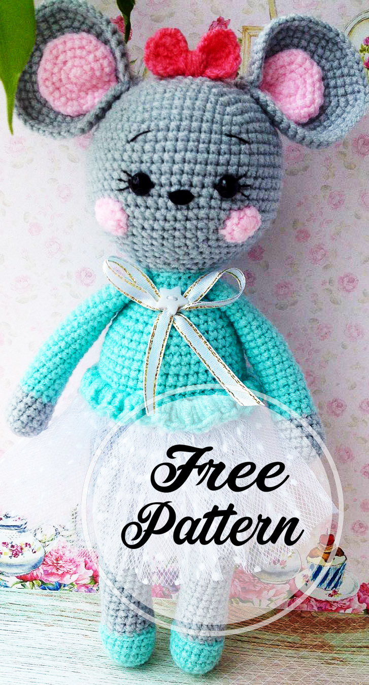 Daddy Mouse -Amigurumi- Free Crochet Pattern | 1350x727