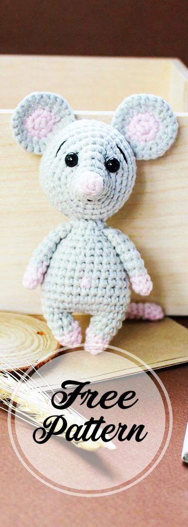 Amigurumi Little Mouse Crochet Free Patterns - Crochet & Knitting | 1077x386