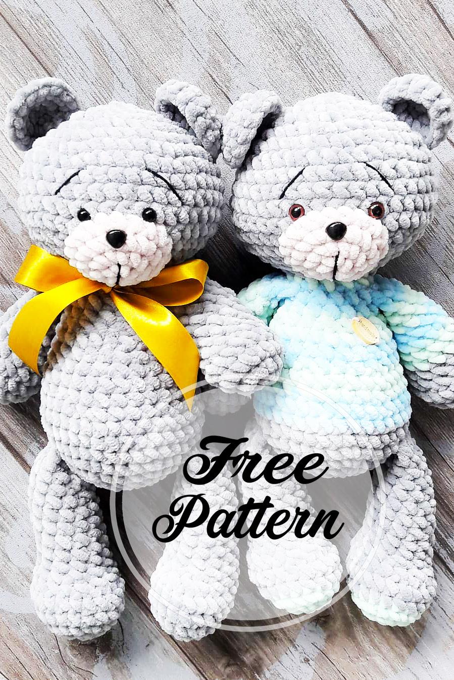 Ours doudou amigurumi crochet 3/3 / Amigurumi bear easy crochet ... | 1347x899
