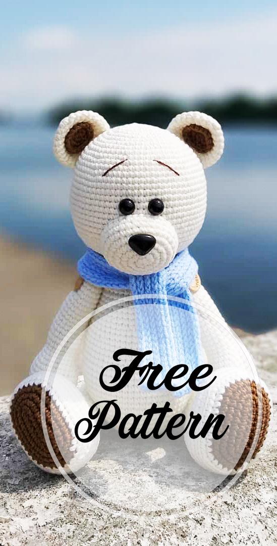 Free Crochet Keychain Pattern - Simply Bear Amigurumi - Crochet News | 1080x549