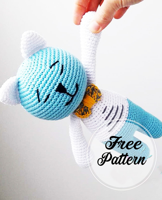 Easy Crochet Cat Patterns - Free Amigurumi Patterns • DIY & Crafts | 800x646