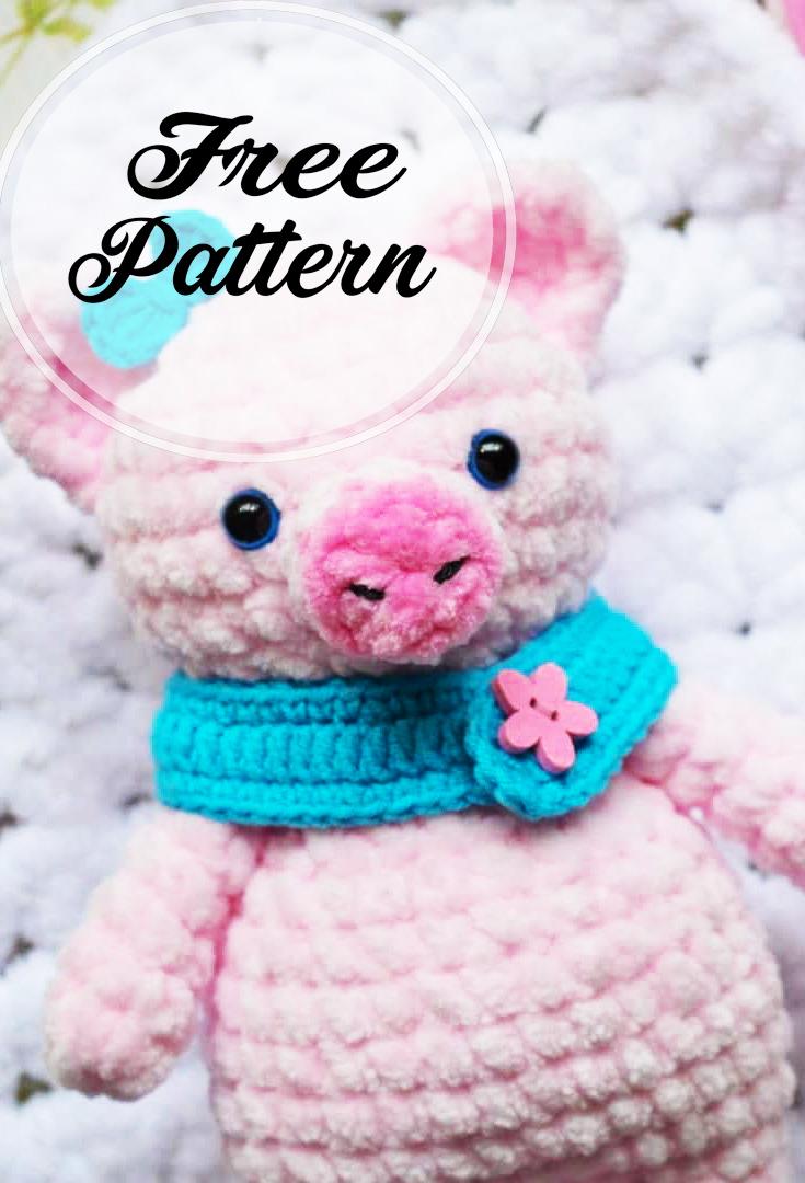 8 Crochet Amigurumi Pig Free Patterns | 1080x735