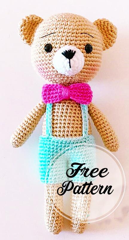 FREE PATTERN: Small Long-Legged Teddy Bear – Kristi Tullus   801x432