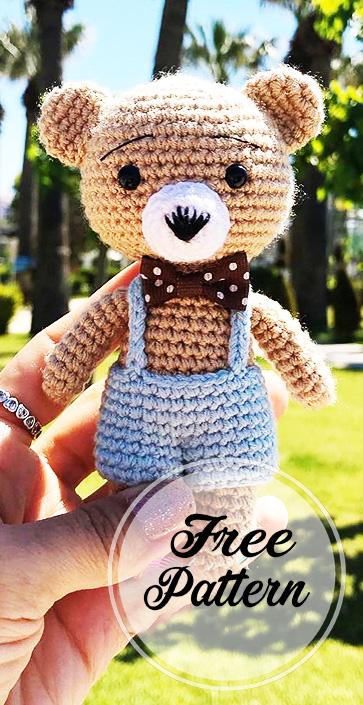 Awesome Free Crochet Teddy Amigurumi Bear Pattern - Free Amigurumi ... | 705x363
