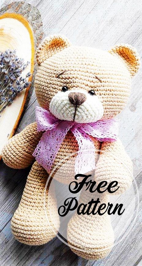 Crochet Teddy Bear Written Pattern and Video | 867x464