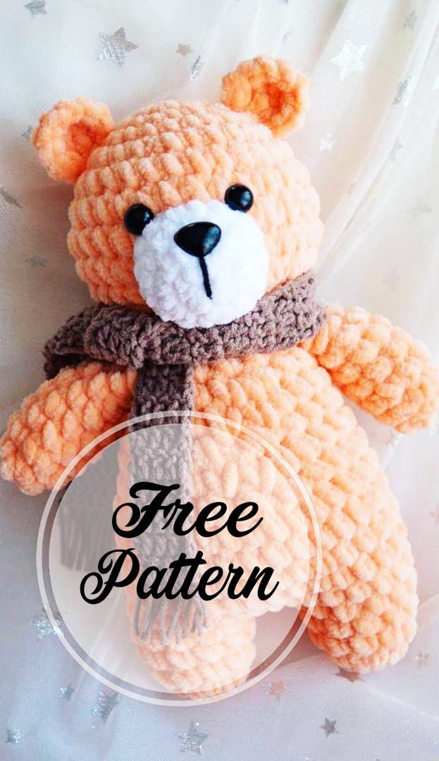 Amigurumi Mini Teddy Bear Free Crochet Pattern | 1080x623