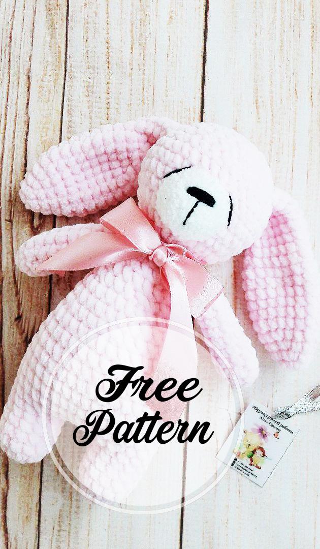 Amigurumi tiny bunny crochet pattern. Amigurumi Easter rabbit ... | 1080x630