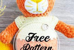 Crochet cat Murzik pattern | Tiere häkeln, Katzen häkeln und ... | 170x253