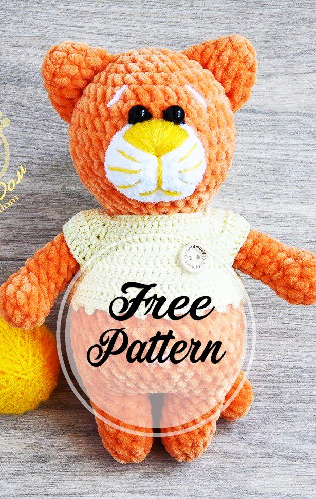 Amigurumi Cat Crochet Pattern Easy Video Tutorial | 972x615