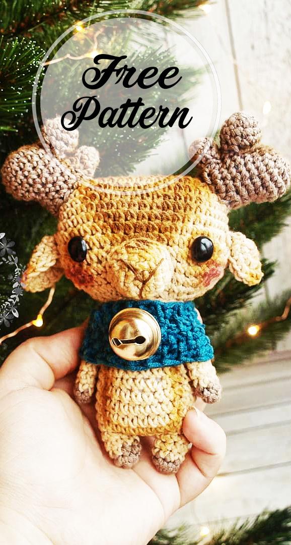 Christmas deer amigurumi pattern - Amigurumi Today | 1080x578