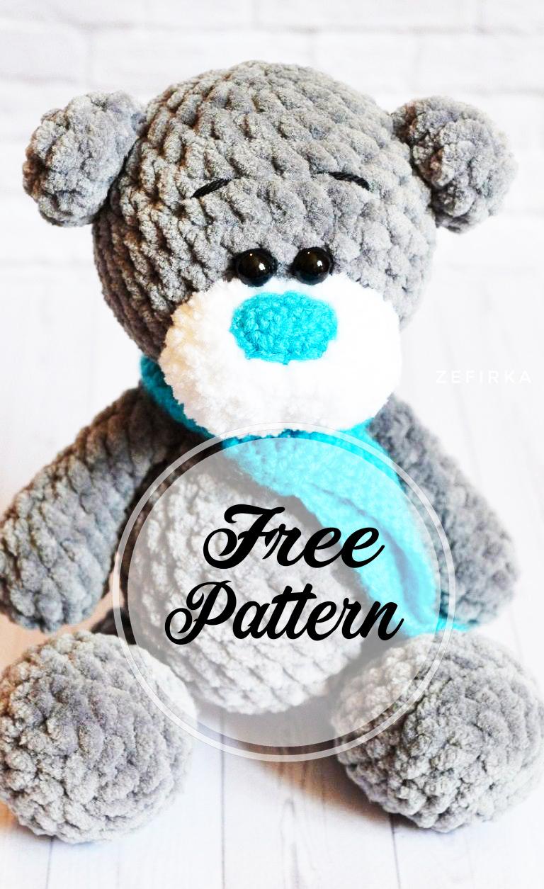 20+ Free Crochet Teddy Bear Patterns ⋆ Crochet Kingdom | 1255x768