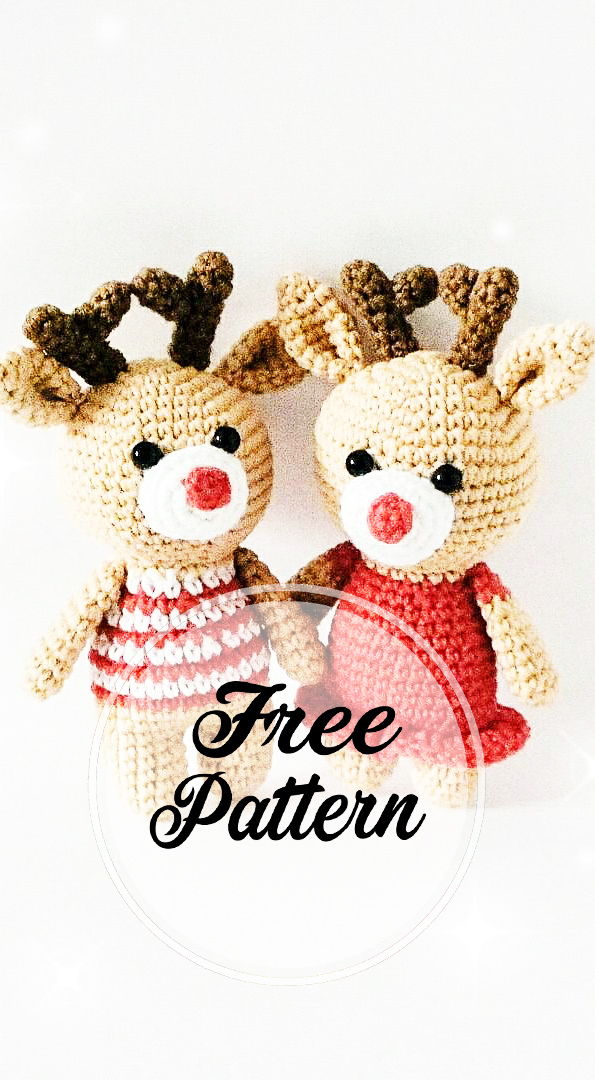 Amigurumi Reindeer - A Free Crochet Pattern - Grace and Yarn | 1080x595