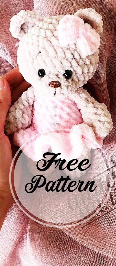 Free Teddy Bear crochet pattern - Amigurumi Today | 919x401