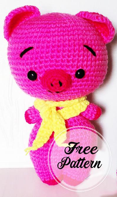 Amigurumi Mini Pig Crochet Pattern   667x397