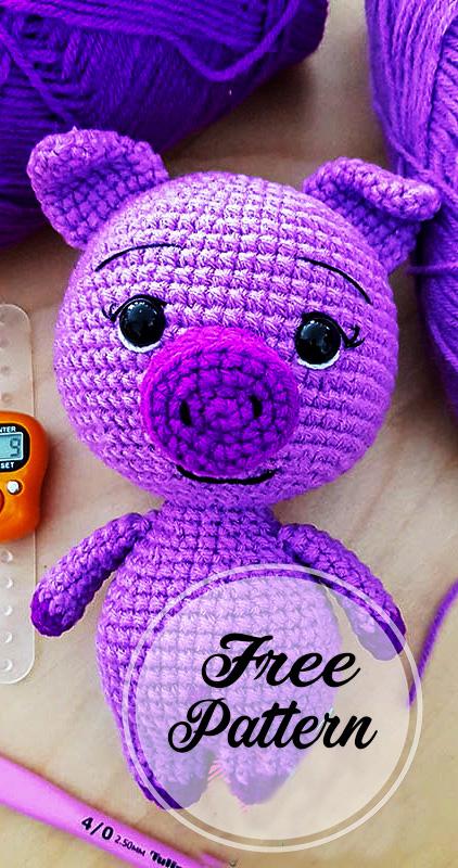 Little Pig Crochet Amigurumi Stuffed rattle toy|rattle toys|toy ... | 800x422