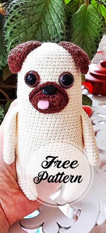 Baby Pug Dog amigurumi pattern - Amigurumi Today | 774x353